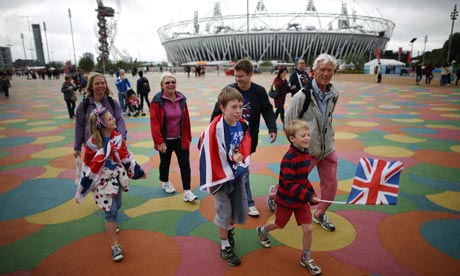 Tracking one's family in public events such as the London Olympics