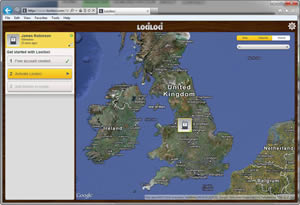 Lociloci uses Google maps and a very user-friendly interface to show you where you, your friends and family are